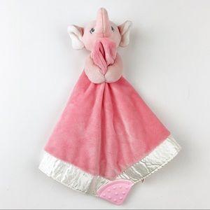 Gund Pink Elephant Baby Lovey Blanket